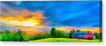 After The Storm Passes Canvas Print by Edward Fielding