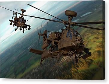 2 Ah64 Apache Canvas Print