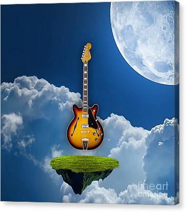 Air Guitar Canvas Print by Marvin Blaine