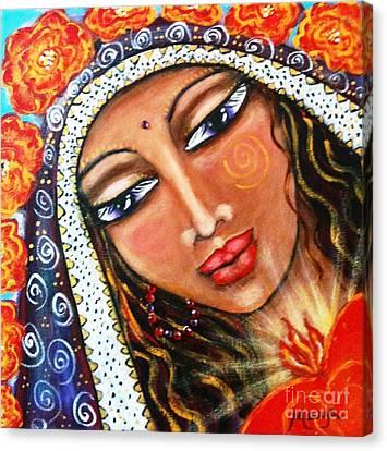 Madonna Canvas Print - Akasha - She Who Carries The Memories by Maya Telford
