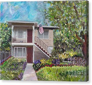 Alameda 1908 Duplex  Canvas Print by Linda Weinstock
