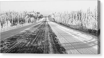 Alaska Highway 1 Canvas Print by Juergen Weiss