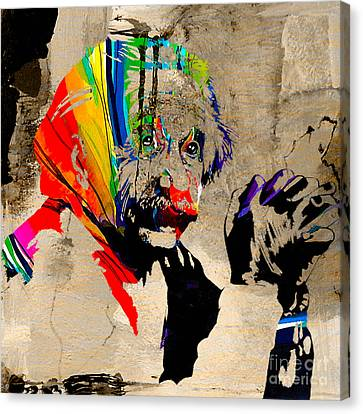 Portraits Canvas Print - Albert Einstein by Marvin Blaine
