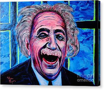 Canvas Print featuring the painting Albert Einstein by Viktor Lazarev