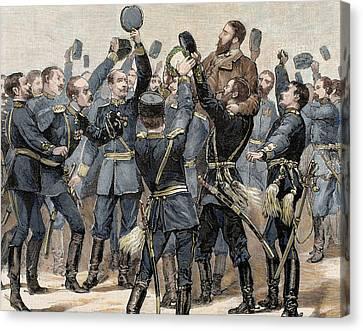 Alexander Of Battenberg (1857-1893 Canvas Print by Prisma Archivo