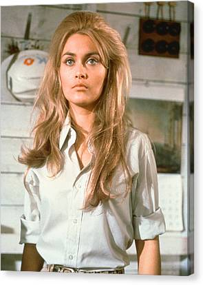 Alexandra Bastedo In The Champions Canvas Print by Silver Screen