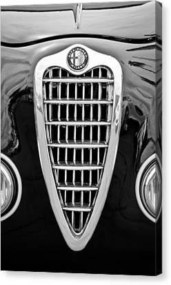 Alfa Romeo Milano Grille Emblem Canvas Print by Jill Reger