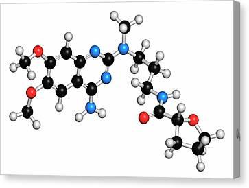 Alfuzosin Bph Drug Molecule Canvas Print by Molekuul