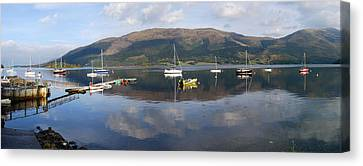 Canvas Print featuring the photograph Along Loch Leven 3 by Wendy Wilton