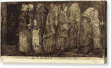Alphonse Legros French, 1837 - 1911 Canvas Print by Quint Lox