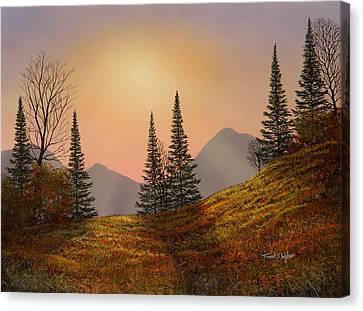 Alpine Sunset Canvas Print by Frank Wilson