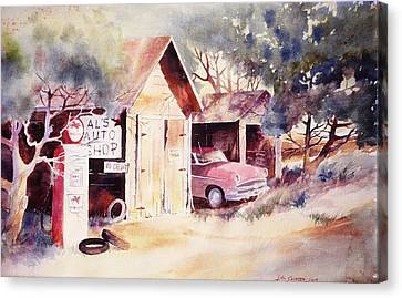 Al's Auto Shop Canvas Print by John  Svenson