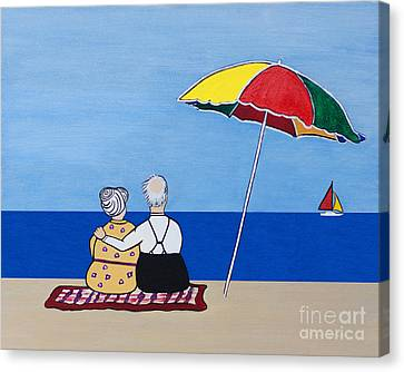 Always Together Canvas Print by Barbara McMahon