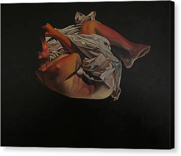 Canvas Print featuring the painting 2 Am by Thu Nguyen
