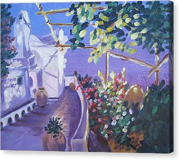 Amalfi Evening Canvas Print by Julie Todd-Cundiff