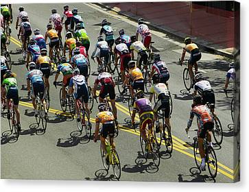 Bicycle Race Canvas Print - Amateur Men Bicyclists Competing by Panoramic Images
