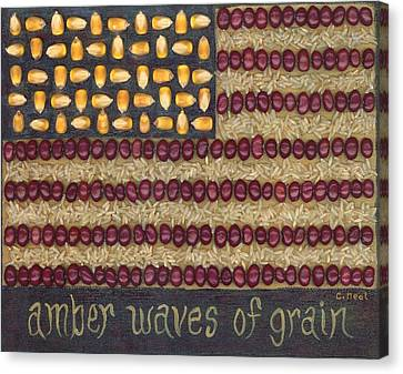 Amber Waves Of Grain Canvas Print by Carol Neal