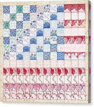 America The Beautiful Canvas Print by Elizabeth Lee