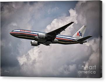 American Airlines Boeing 777 Canvas Print by Rene Triay Photography