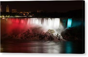 American Falls Canvas Print by Adam Romanowicz