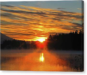 Canvas Print featuring the photograph American Lake Sunrise by Tikvah's Hope