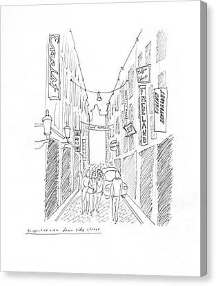 Redlight Canvas Print - Amsterdam by Steven Tomadakis