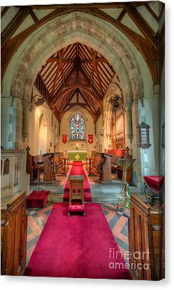 Ancient Parish Church Canvas Print by Adrian Evans