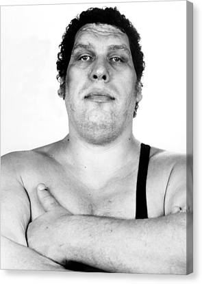 Hall Canvas Print - Andre The Giant by Retro Images Archive