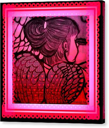 Angel Leah 2 Canvas Print by Maryann  DAmico
