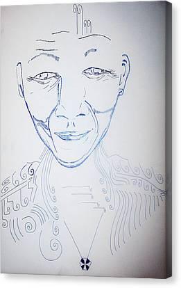Angel Madiba - Nelson Mandela Canvas Print by Gloria Ssali