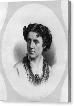 Anna Elizabeth Dickinson (1842-1932) Canvas Print