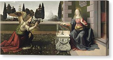 Annunciation Canvas Print by Celestial Images