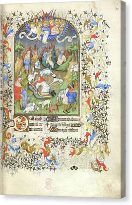 Annunciation To The Shepherds Canvas Print by British Library