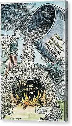 Anti-immigration Cartoon Canvas Print by Granger