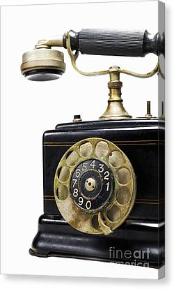 Antique Dial Telephone Canvas Print by Sami Sarkis