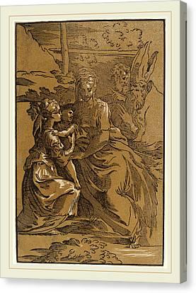Antonio Da Trento After Parmigianino Italian Canvas Print