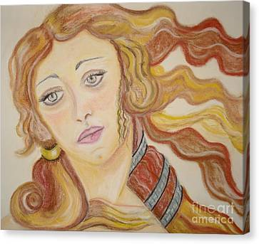 Canvas Print featuring the painting Aphrodite Goddess Of Love by Lori  Lovetere