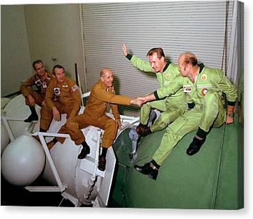 Apollo Soyuz Test Project Crew Training Canvas Print by Nasa
