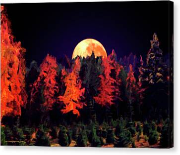 Apple Hill Moonrise Canvas Print