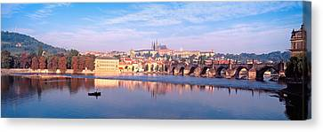 Arch Bridge Across A River, Charles Canvas Print