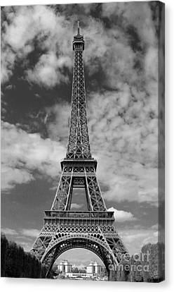 Architectural Standout Bw Canvas Print by Ann Horn