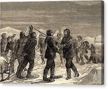Survive Canvas Print - Arctic Expedition Led By John Franklin by Universal History Archive/uig