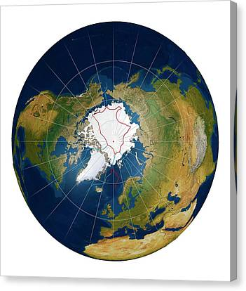 Arctic Land Claims Canvas Print by Mikkel Juul Jensen