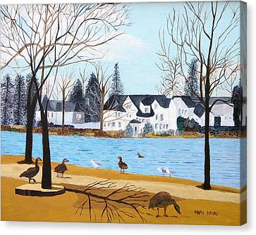Argyle Lake Canvas Print by Artists With Autism Inc