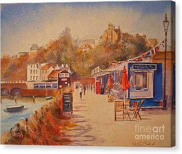 Canvas Print featuring the painting Around Folkestone Harbour by Beatrice Cloake
