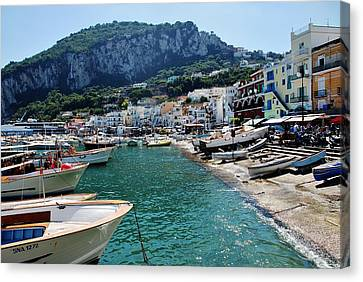 Arrival To Capri  Canvas Print