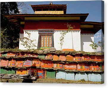 Art In A Buddhist Monastery, Sikkim Canvas Print