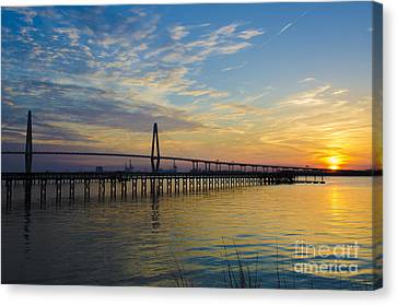 Canvas Print featuring the photograph Magical Blue Skies by Dale Powell