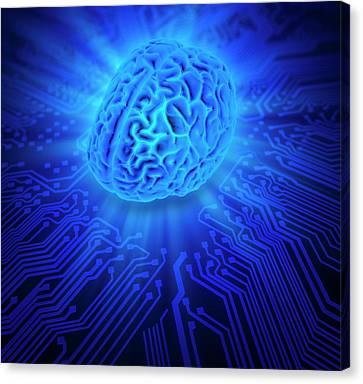 Artificial Intelligence Canvas Print by Andrzej Wojcicki