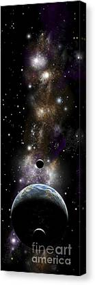 Artists Depiction Of An Earth-like Canvas Print by Marc Ward